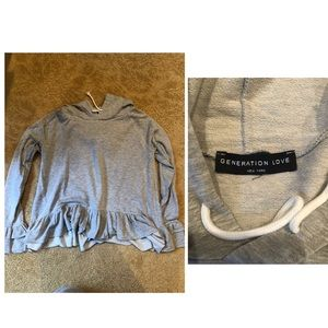 Generation Love hoodie top with flounce